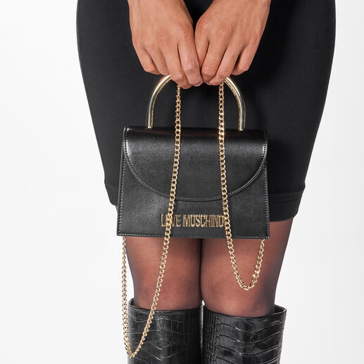 Love Moschino Ring-Bag Modisch genau richtig – und preislich erschwinglich: die Ring-Bag von Love Moschino.