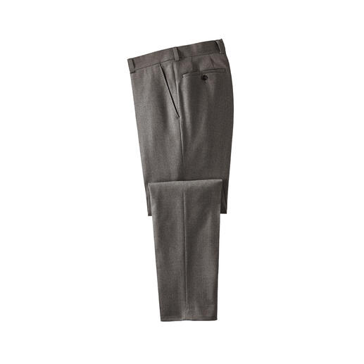 Edler und leichter als viele oft rustikale, schwere Flanell-Anzüge – aber genauso warm. Edler und leichter als viele oft rustikale, schwere Flanell-Anzüge – aber genauso warm.