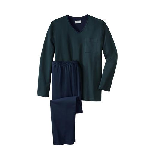 Novila Gentleman-Pyjama, Mini-Raute Der perfekte Gentleman-Pyjama: Bequem. Luftig. Edel.