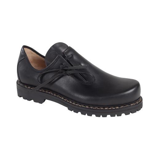 Der original Haferl-Schuh für Damen: fast unverändert seit 1803, aber mit neuer, leichter Vibram®-Gummisohle. Traditionell zwiegenäht: wasserfest und unglaublich robust.