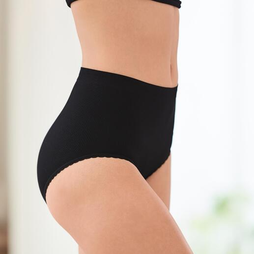 Seamless Feinripp-Top oder -Slip Die Seamless-Wäsche formt raffiniert eine optisch schlanke Silhouette.