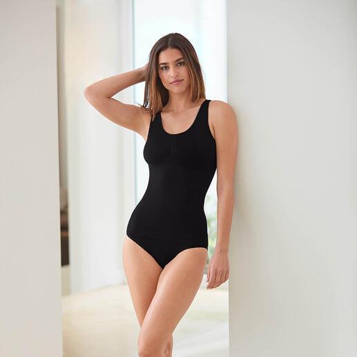 Die Seamless-Wäsche formt raffiniert eine optisch schlanke Silhouette. Das Figur-Geheimnis der schönsten Frauen.