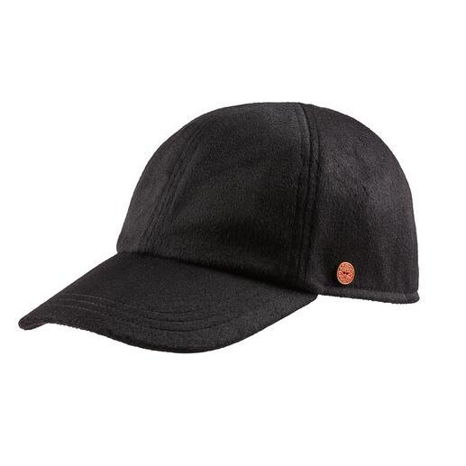 Die luxuriöse unter den Baseball-Kappen: aus herrlich weichem, leichtem Kaschmir. Von Mayser, traditionsreiche deutsche Hutmanufaktur seit 1800.