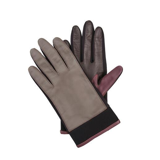 Der Leder-Handschuh mit zeitgemäßem Update. Von Otto Kessler, seit 1923. Neopren-Einsätze machen ihn viel flexibler, Trendfarben viel interessanter.