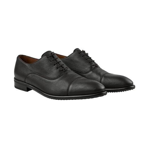 Der komfortable Business-Schuh aus handschuhweichem Hirschleder. In feinster Sacchetto-Machart gefertigt. Von Lottusse, Mallorca.