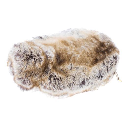 Evelyne Prélonge Wärmflasche Ihre wohl kuscheligste (und schönste) Wärmflasche. Gehüllt in Webpelz de luxe von Evelyne Prélonge. Hergestellt in Frankreich.