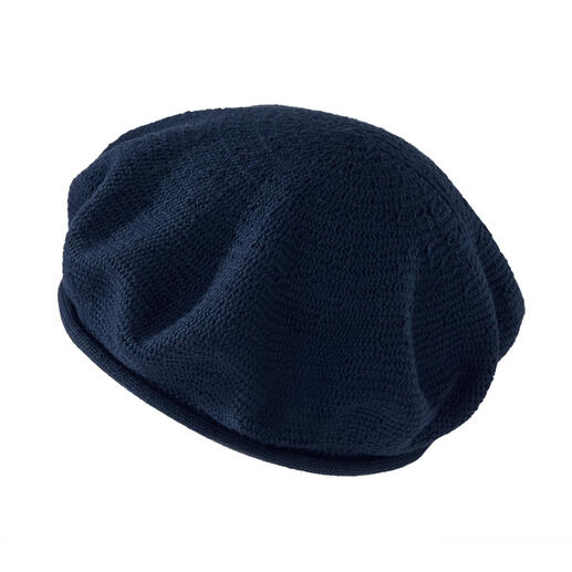 Die klassische Baskenmütze feiert Mode-Comeback. Endlich leicht genug für den Sommer. Von Hutspezialist Loevenich, seit 1960.