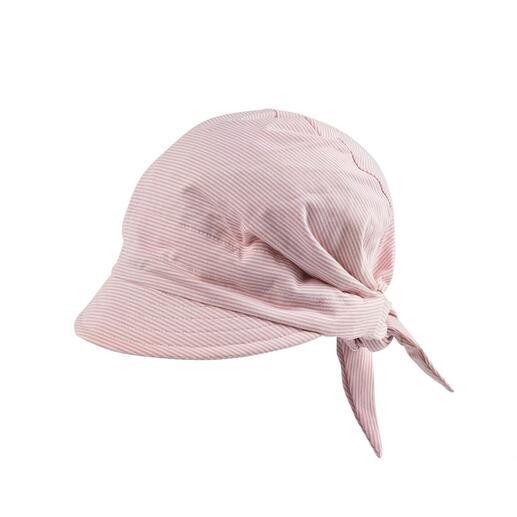 Die Kappe aus weichem, dehnbarem Jersey. Ihre bequeme Alternative zu steifen Sommerhüten.