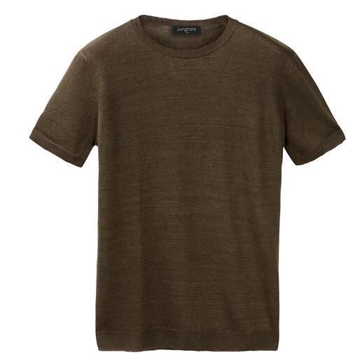 Das luftige und luxuriöse unter den sommerlichen T-Shirts. Kühl und trocken dank Leinen, sanft und weich dank Seide.