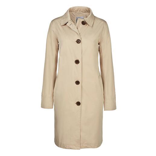 Der stilvolle Travelcoat, der perfekt vor Regen schützt. Wasserdicht, winddicht und atmungsaktiv.