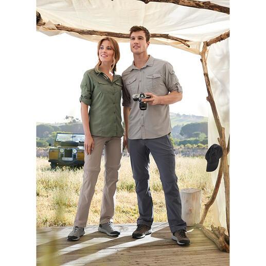 Die Insektenschutz-Kleidung, die nicht aufträgt. Zusätzlich mit UV-Schutzfaktor 40+. Von Craghoppers/UK, Outdoor-Spezialist seit 1965.