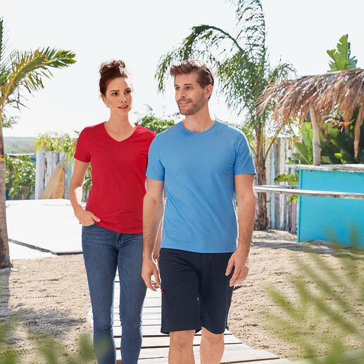 SunSelect®  V-Shirt Damen oder Rundhals-Shirt Herren