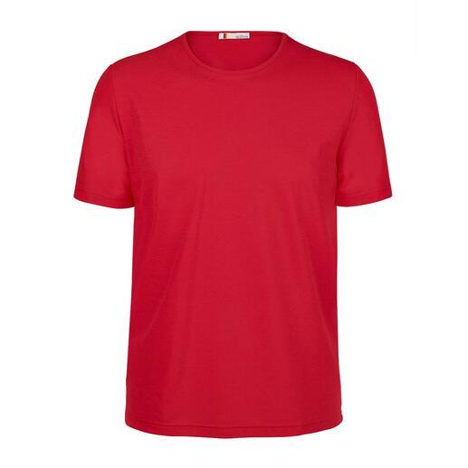 Das SunSelect®-Shirt: lässt bräunende UVA-Strahlen durch und filtert dabei schädliches UVB. Nahtlos braun dank sonnendurchlässigem Jersey.