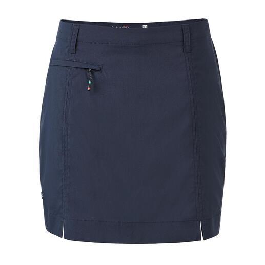 Der geniale Funktionsrock von Dubarry. Skort: Außen Skirt, innen Shorts.