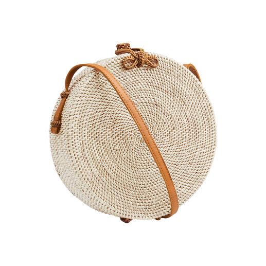 Bali-BAli® Runde Ata-Umhängetasche Die modische Tasche aus seltenem Ata-Gras. Charaktervoll in reichlich Handarbeit gefertigt.