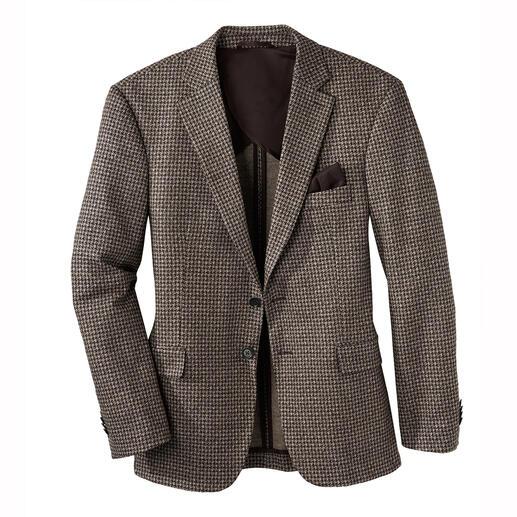 Das Sakko aus luxuriösem italienischen Woll-Seiden-Jersey. Edel wie ein feines Maß-Sakko. Bequem wie Ihre Lieblings-Strickjacke.