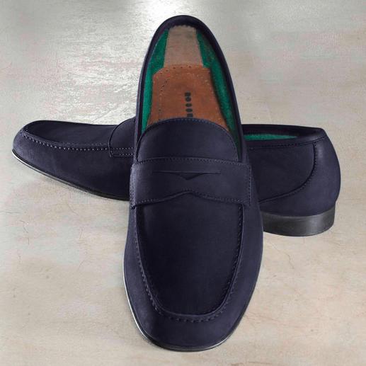 Fratelli Rossetti Barfuß-Mokassin, Leder Frottee-Futter macht diesen Mokassin zum idealen Barfuß-Schuh. Von Fratelli Rossetti.