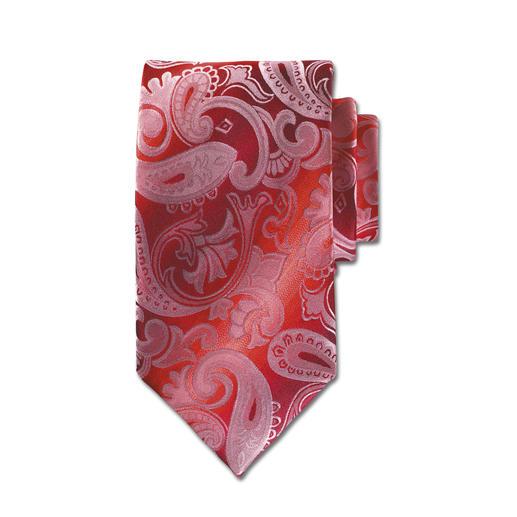 Rosso-Paisley Krawatte Eines der edelsten Krawatten-Dessins. In besonders seltener Version.