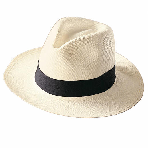 Der echte Panama-Hut. Handgeflochten in Ekuador. Riskieren Sie keinen Notkauf: Der echte Panama-Hut ist viel weicher, eleganter und dennoch preisgünstig.