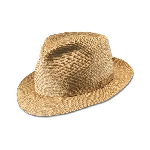 Dieser Hut darf geknautscht werden – und bleibt trotzdem immer perfekt in Form. Dieser Hut darf geknautscht werden – und bleibt trotzdem immer perfekt in Form.