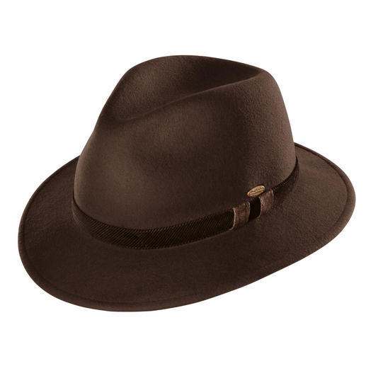 Mayser-Winterhut, Taupe - Stilvoll wie ein Hut, aber wärmend wie eine Mütze. Von Mayser, deutsche Hutmacherkunst seit 1800.