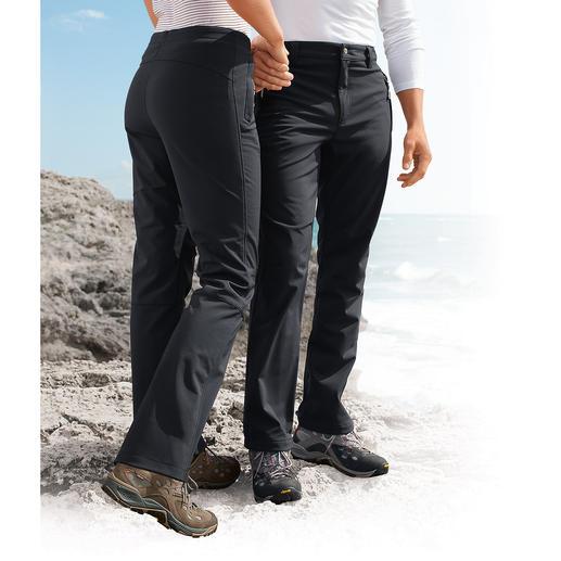 Softshell-Hose, Damen Dank Softshell schlank, leicht und trotzdem wärmend. Und sie sieht auch noch extrem gut aus.