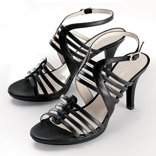 Lorbac Riemchen-Sandalette - Elegante Sandalette. Unerwartet komfortabel. Ein Schaumstoffkern formt Ihr individuelles Fußbett.