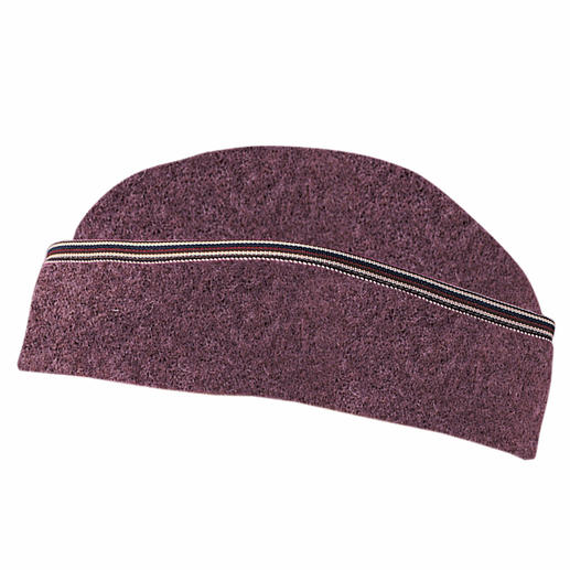 Die Hut-Mütze Die Mütze aus weicher, gewalkter Schurwolle – passt sich perfekt an und kratzt nicht.
