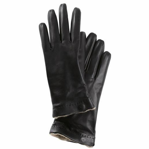 Merola-Handschuhe Aus feinstem Lammnappa und mit ausknöpfbarem Kaschmir-Innenfutter. Für Damen und Herren. Von Merola/Italien.
