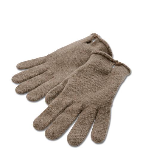 Handschuhe, Beige-meliert
