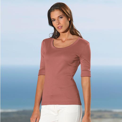 Wolff-T-Shirt Aus feinster, mercerisierter Baumwolle.