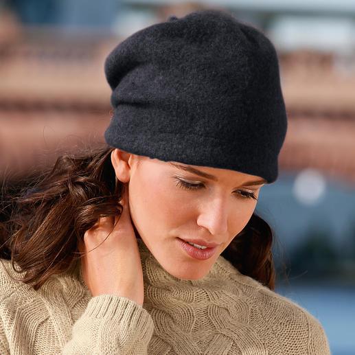Ellen Paulssen Beanie-Walkmütze Zeitgemäße Form. Modisch lässiger Sitz. Und keine platt gedrückten Haare.