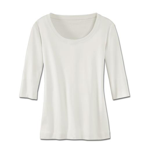 Wolff-Shirt Aus feinster, mercerisierter Baumwolle.