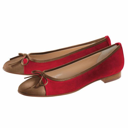 Casanova Nubuk-Ballerinas Die besonders feine Art, flache Schuhe zu tragen. Sensationell bequem und schick.