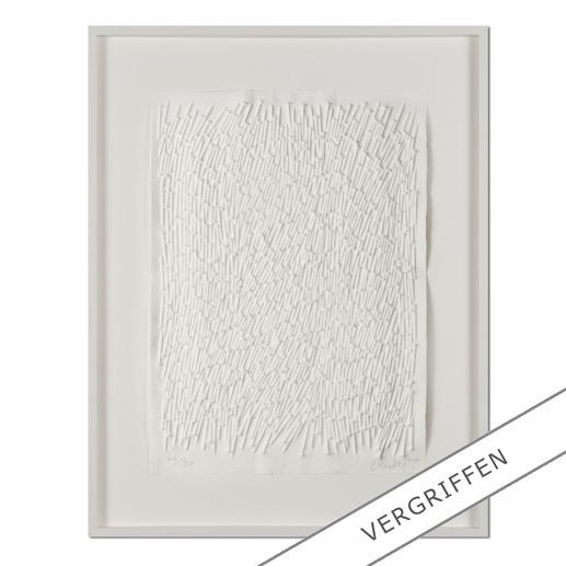"Günther Uecker: ""Feld"", 2011 - Prägedruck auf 300-g-Büttenpapier  Auflage: 90 Exemplare   Exemplar: e. a.  Blattgröße (B x H): 50 x 70 cm   Größe mit Rahmung:  73 x 93 cm"
