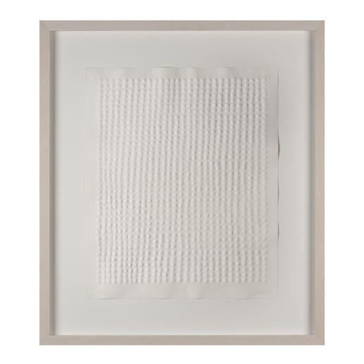 Günther Uecker – Reihung, 1972 - Prägedruck auf 300-g-Büttenpapier  Auflage: 100 Exemplare   Exemplar: e. a.  Blattgröße (B x H): 50 x 60 cm   Maße: gerahmt 74 x 84 cm