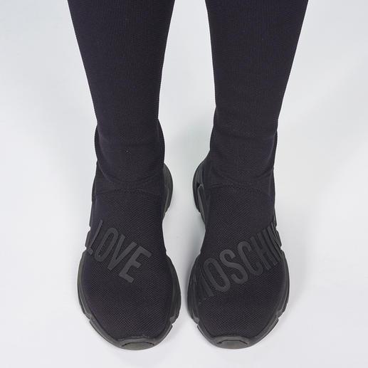 Love Moschino Overknee-Strickstiefel Stiefel-Star Overknee: bei Love Moschino 3-fach trendgerecht durch Strick und Sneakersohle.