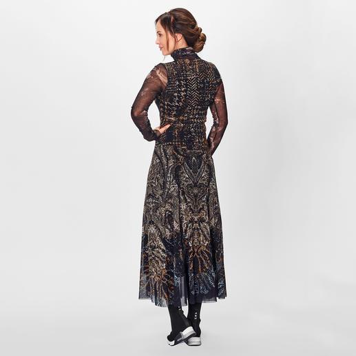 Fuzzi Patchwork-Rollkragenkleid Unkompliziert topmodisch gestylt: Fuzzis Tüll-Jersey-Rollkragenkleid mit angesagtem Patchwork-Dessin.
