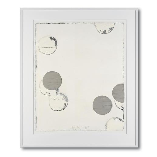 Jupp Linssen – Ballpoint - Erste Unikatserie von Jupp Linssen: Farbkreise aus Öl auf Büttenpapier – von Künstlerhand gemalt. 20 Multiples. Maße: gerahmt 93 x 112 cm
