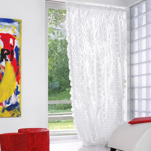 """Vorhang """"Rixa"""", 1 Vorhang So spektakulär kann pures Weiß sein. Das Highlight der neuen """"White Passion""""-Kollektion von JAB Anstoetz."""