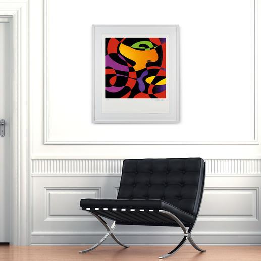 Abstrahierte Figuren in extremer Leuchtkraft und Farbigkeit sind Schabbachs Markenzeichen.
