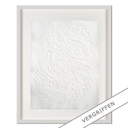 Günther Uecker – Both - Prägedruck auf 300-g-Büttenpapier  Auflage: 50 Exemplare   Exemplar: e. a.  Blattgröße (B x H): 50 x 70 cm   Größe mit Rahmung: 68 x 88 cm