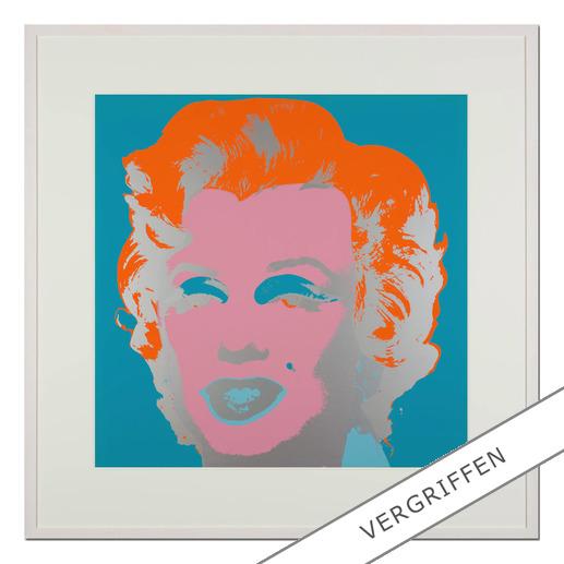 "Andy Warhol: ""Marilyn türkis"" - Sunday B. Morning Siebdruck auf 1,52 mm starkem Museumskarton."