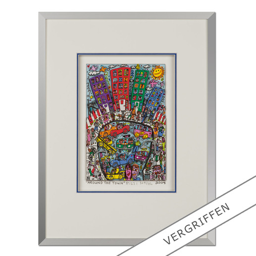 James Rizzi – Around the town - Handsignierte 3D-Papierskulpturen des verstorbenen James Rizzi. 50 von 350 Exemplaren – exklusiv bei Pro-Idee.