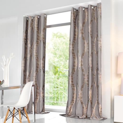 """Vorhang """"River"""", 1 Vorhang Couture-Trend Plissee. Dauerhaft dank unsichtbarer Nähte. Diese Falten überstehen sogar die Wäsche."""