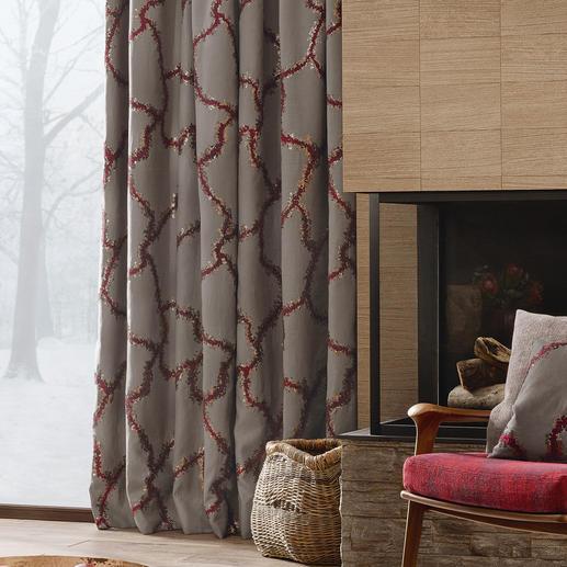 """Vorhang """"Bordino"""", 1 Vorhang Landhausstil, luxuriös wie nie. Präsentiert in der neuen Kollektion """"Chalet Luxe"""" von Sahco."""