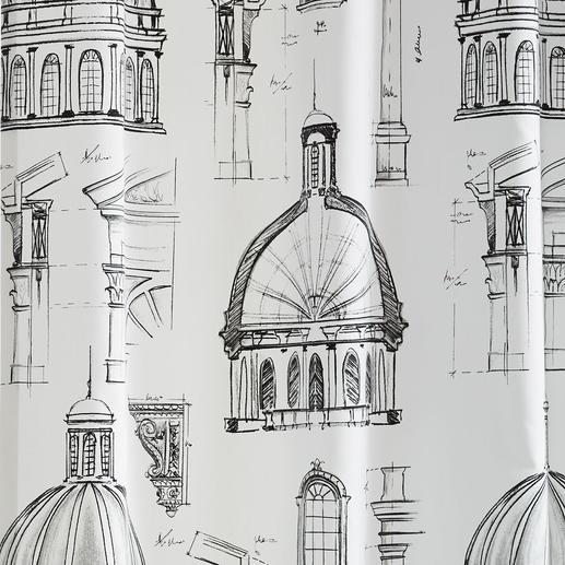 """Vorhang """"Capitol"""", 1 Vorhang Renaissance trifft Moderne. Und Schwarz trifft Weiß."""