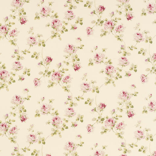 Vorhang Kesa - 1 Stück Romantisches Rosen-Dekor. Der Evergreen des Cottage-Stils, original aus Großbritannien.