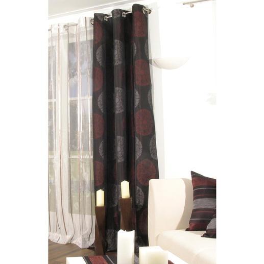 """Vorhang """"Olé"""", 1 Vorhang - Klare Formen. Warme Farben. Großflächiges Design. Diese Wirkung ist elegant und modern zugleich."""