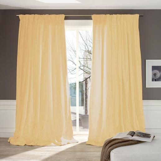 """Vorhang """"Cypres"""", 1 Vorhang Selten: Erlesene Shantung-Seide mit fast vollen 3 Metern Breite."""